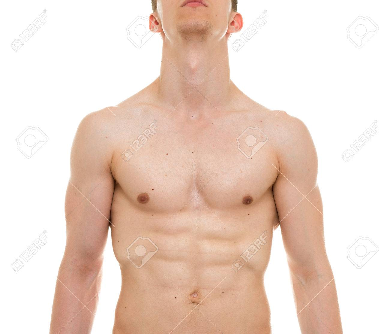 Male Chest Anatomy - Man Muscles Front View Stock Photo, Picture And ...