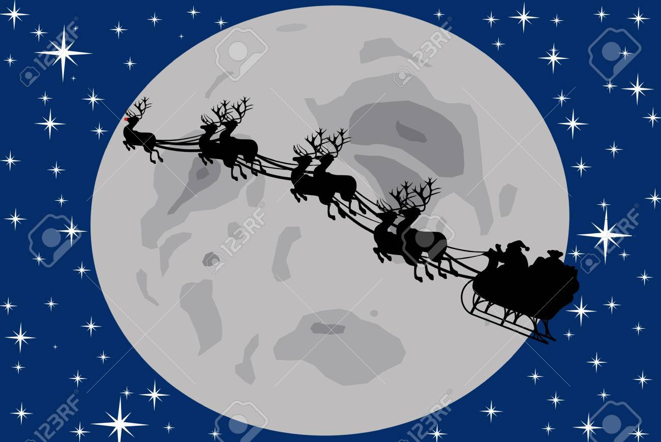santa claus driving in a sledge Stock Photo - 8383313