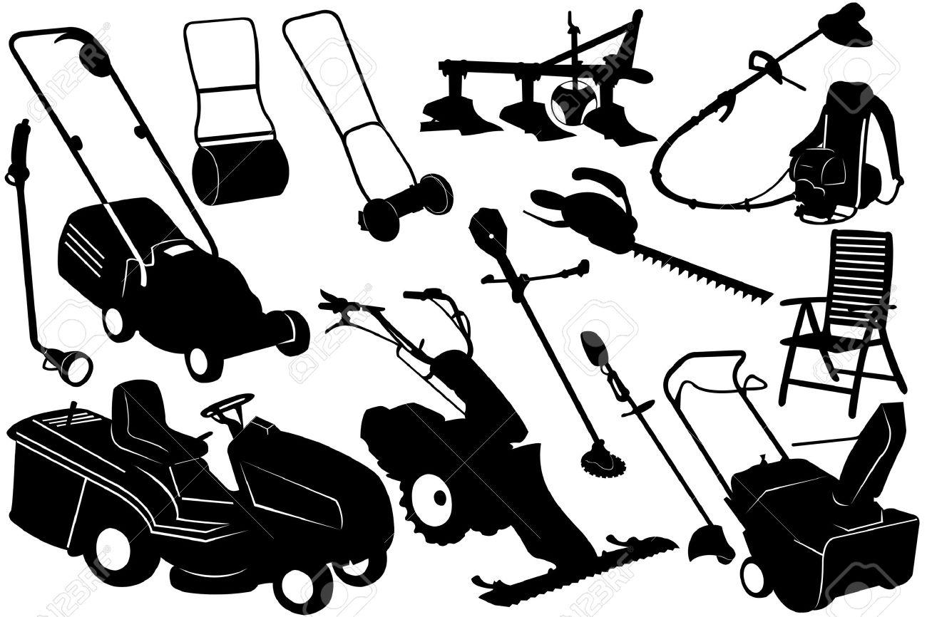 Illustration of gardening tools and equipment - 10471986