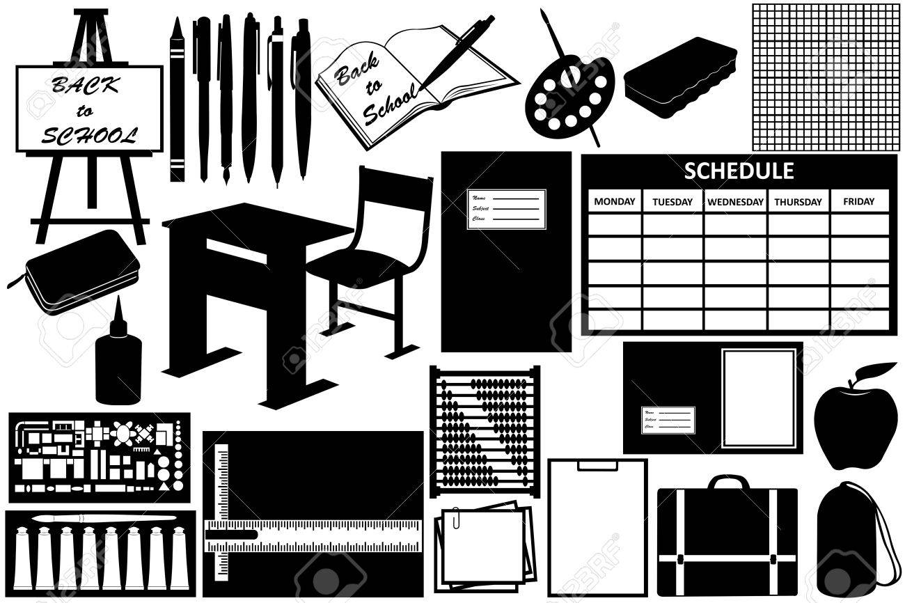 Different objects for school isolated on white Stock Vector - 10578096