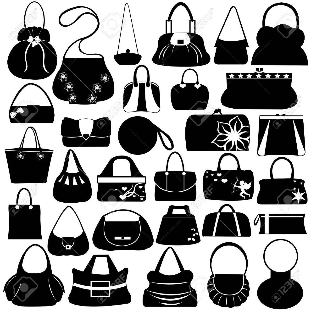 Female purse set isolated on white - 10888036