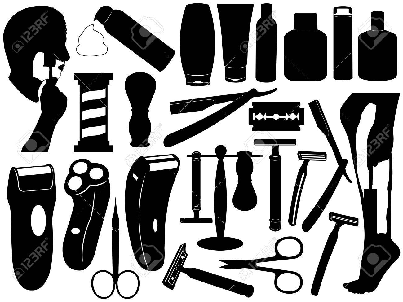 Shaving tools set isolated on white Stock Vector - 11222229