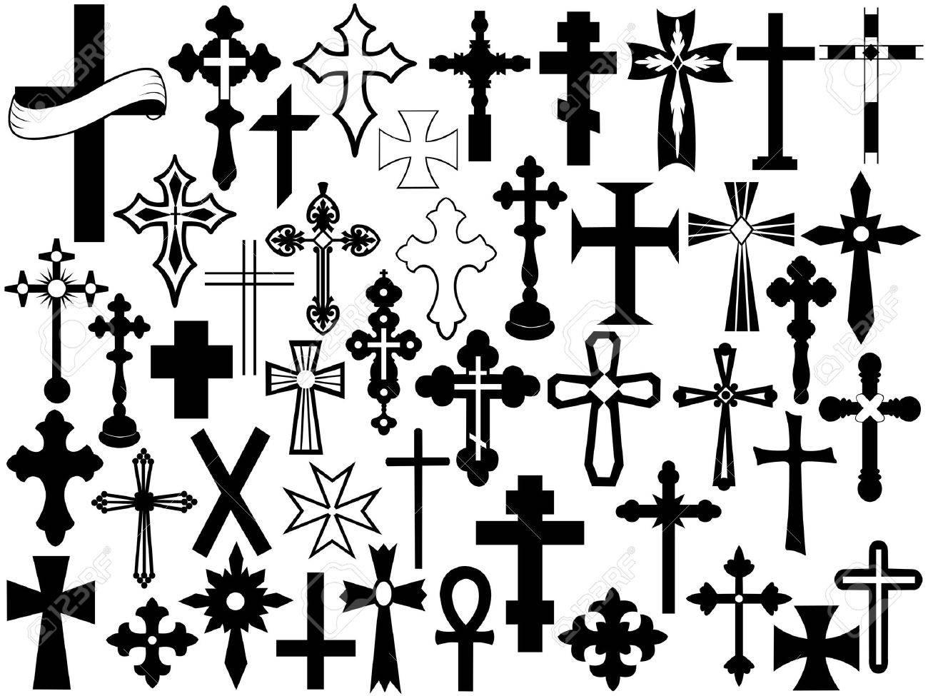 Cross set isolated on white - 11765752