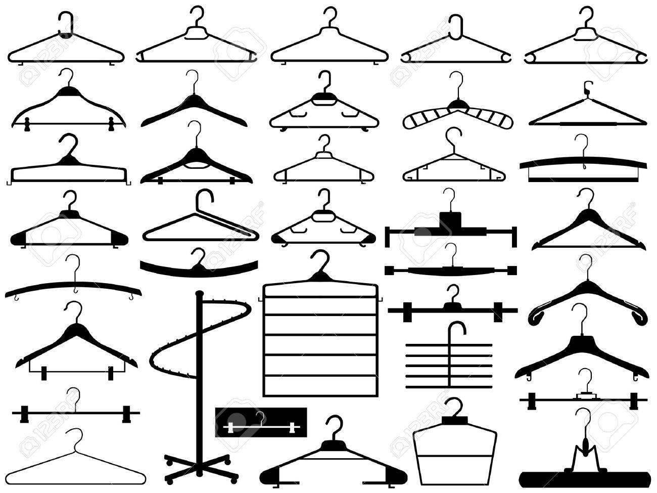 Hanger set isolated on white Stock Vector - 12355743