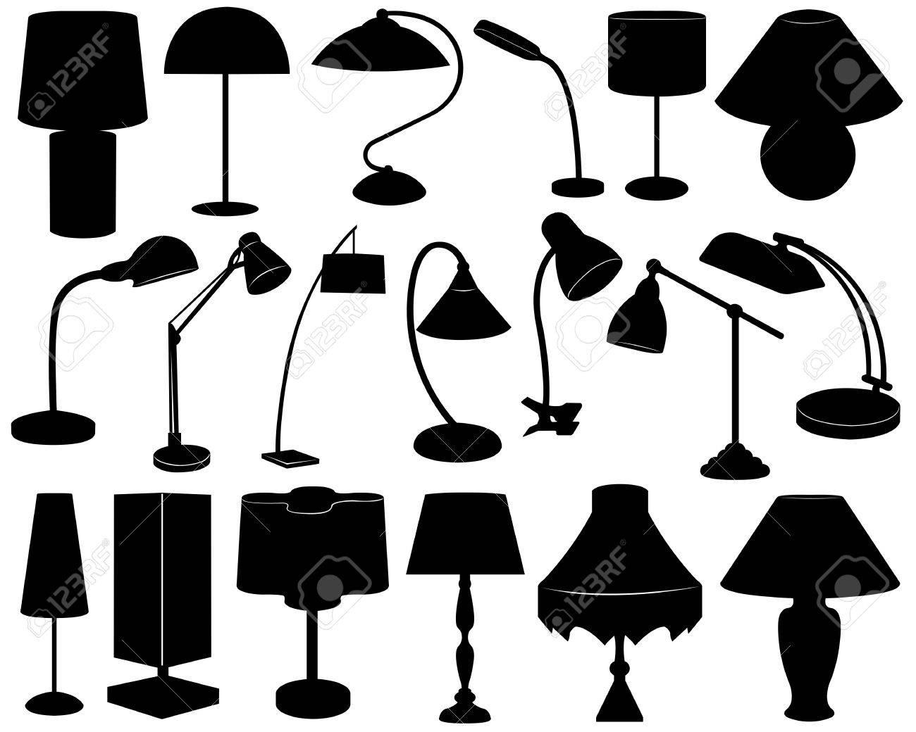 Lamp set isolated on white - 13547493