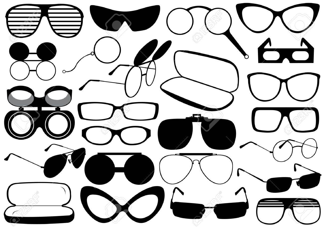 Different eyeglasses isolated on white - 15687164