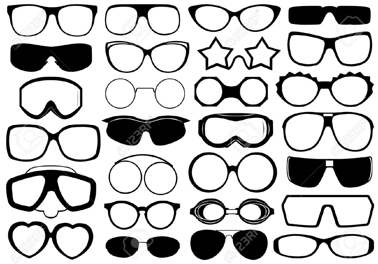 Different eyeglasses isolated on white Stock Vector - 16217001