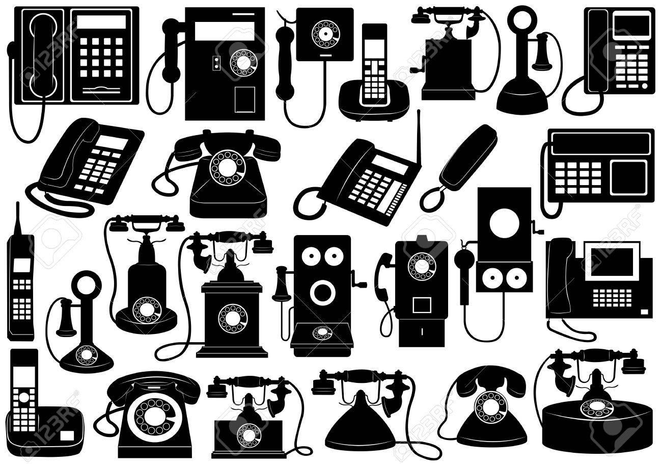 Phone set isolated on white - 16217003