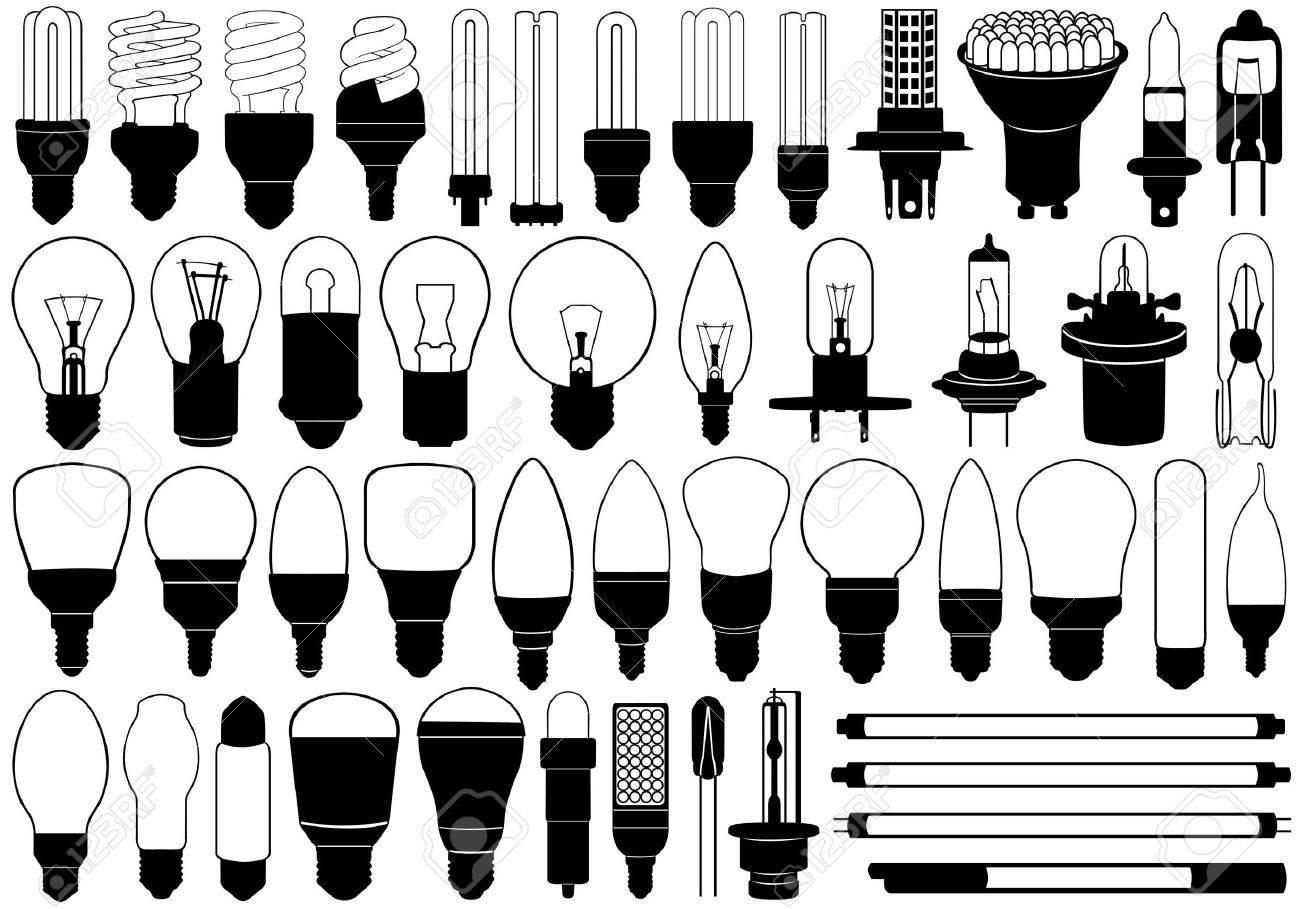 Light bulbs set isolated on white - 16693060