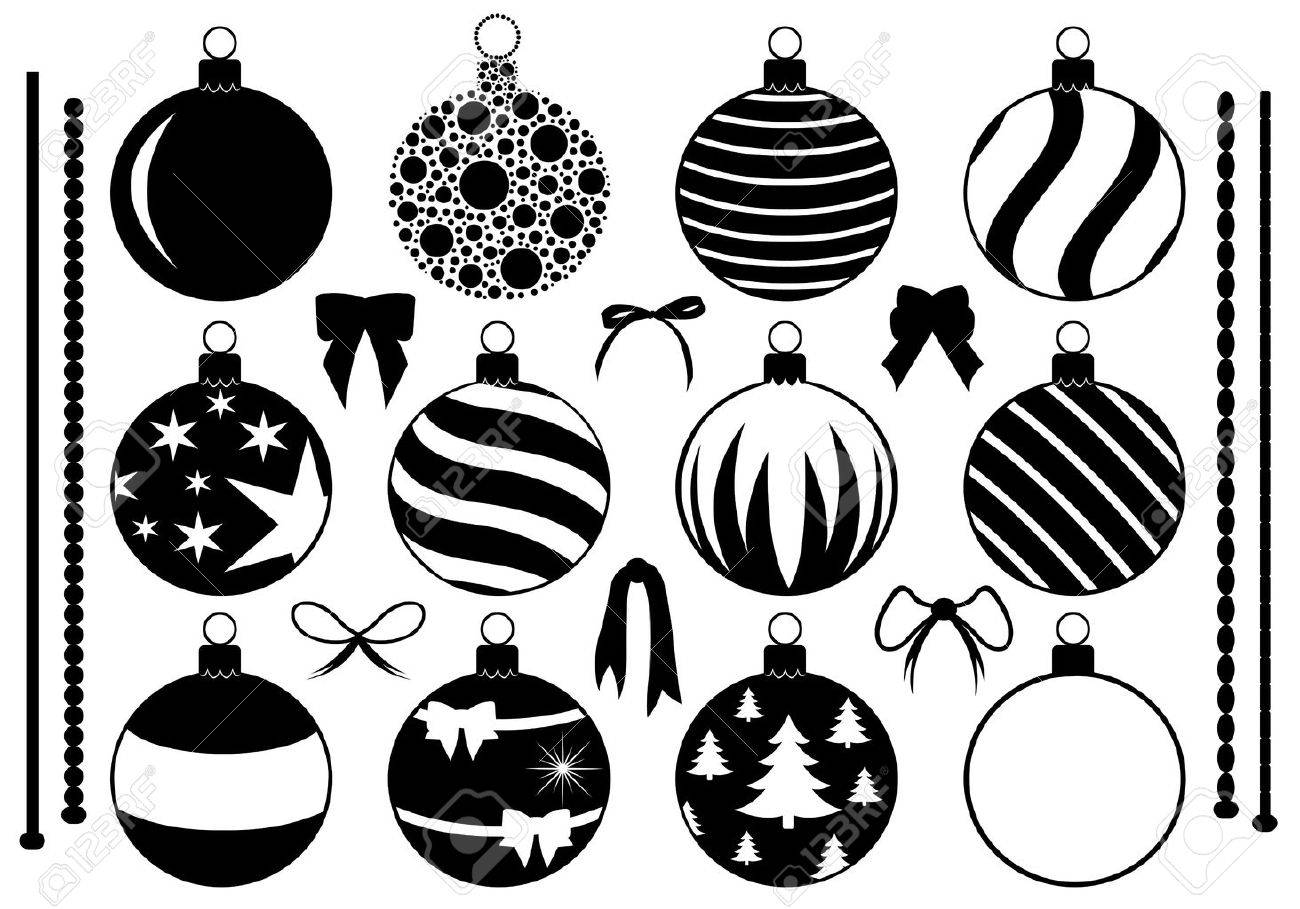 Set of different Christmas decorations isolated on white - 23902897