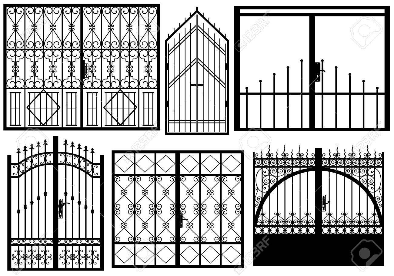 Set of different gates isolated on white - 28505101