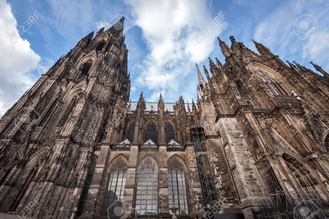 Facade Of The Dom Church Cologne Cathedral