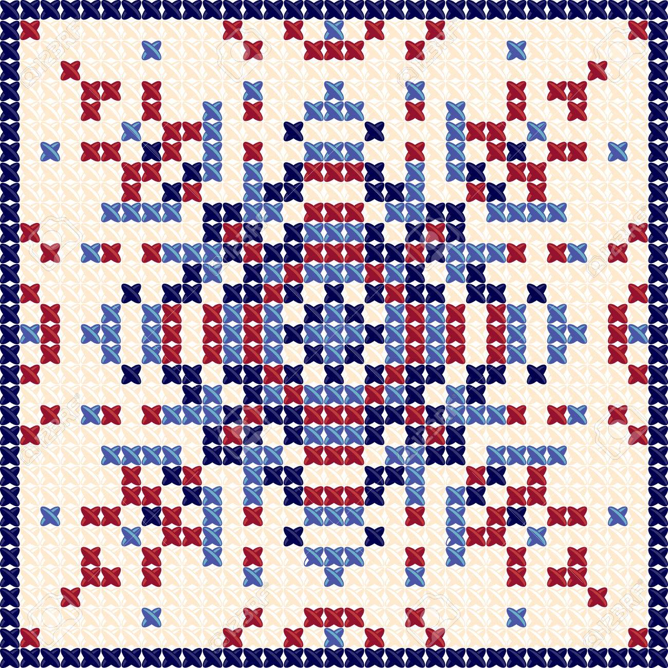 Cross Stitch Pattern Textile Pattern Tapestry Background And Royalty Free Cliparts Vectors And Stock Illustration Image 54277906