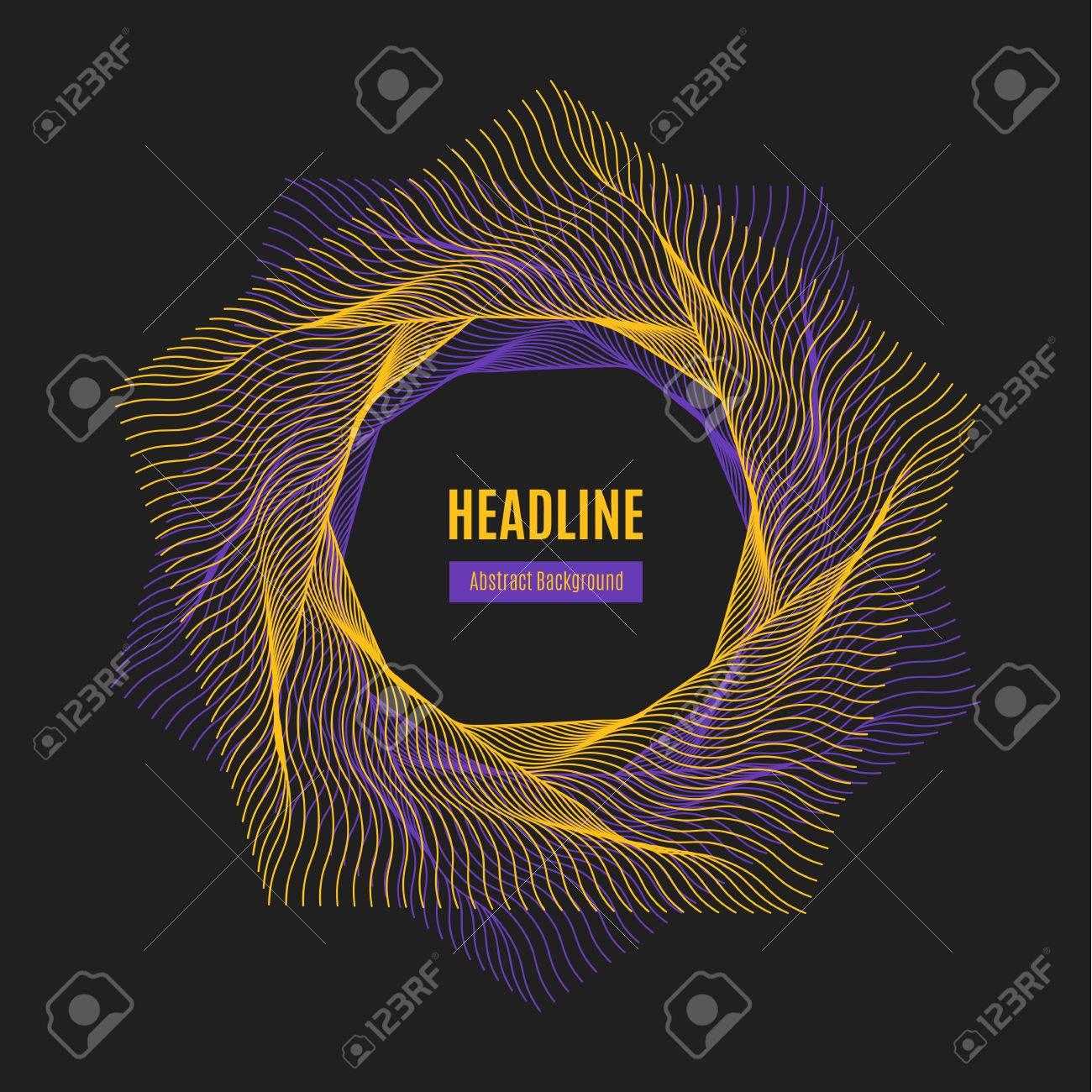 Pentagon line art design, vector typography - 55427416