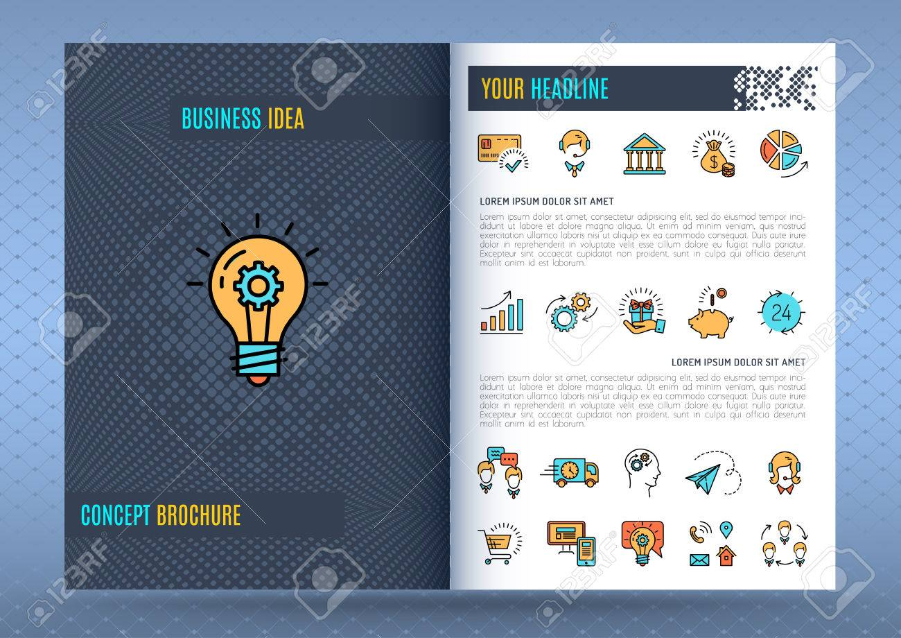 brochure design template business concept flyers covers catalog
