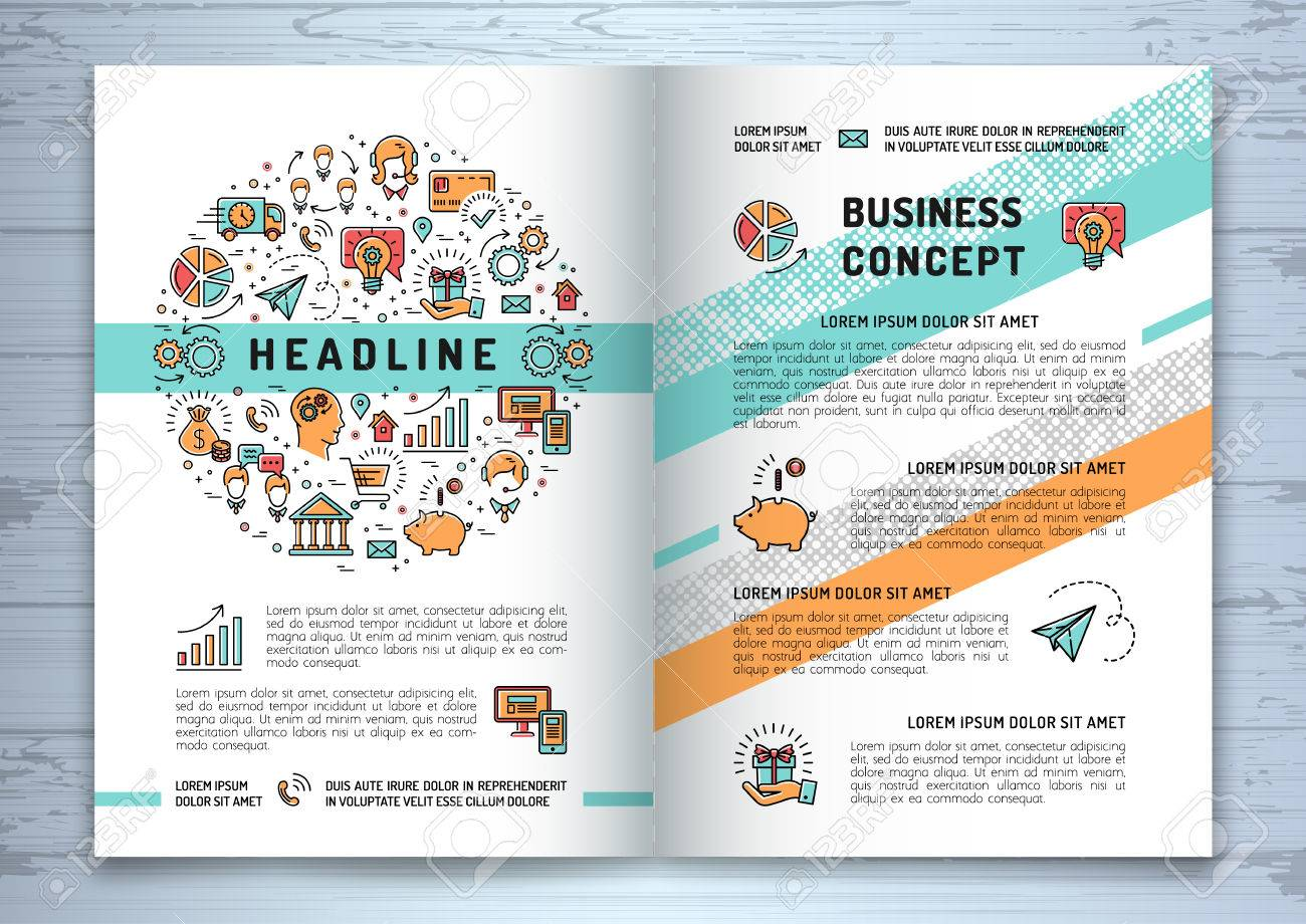 vector business brochure template a4 size shopping e commerce