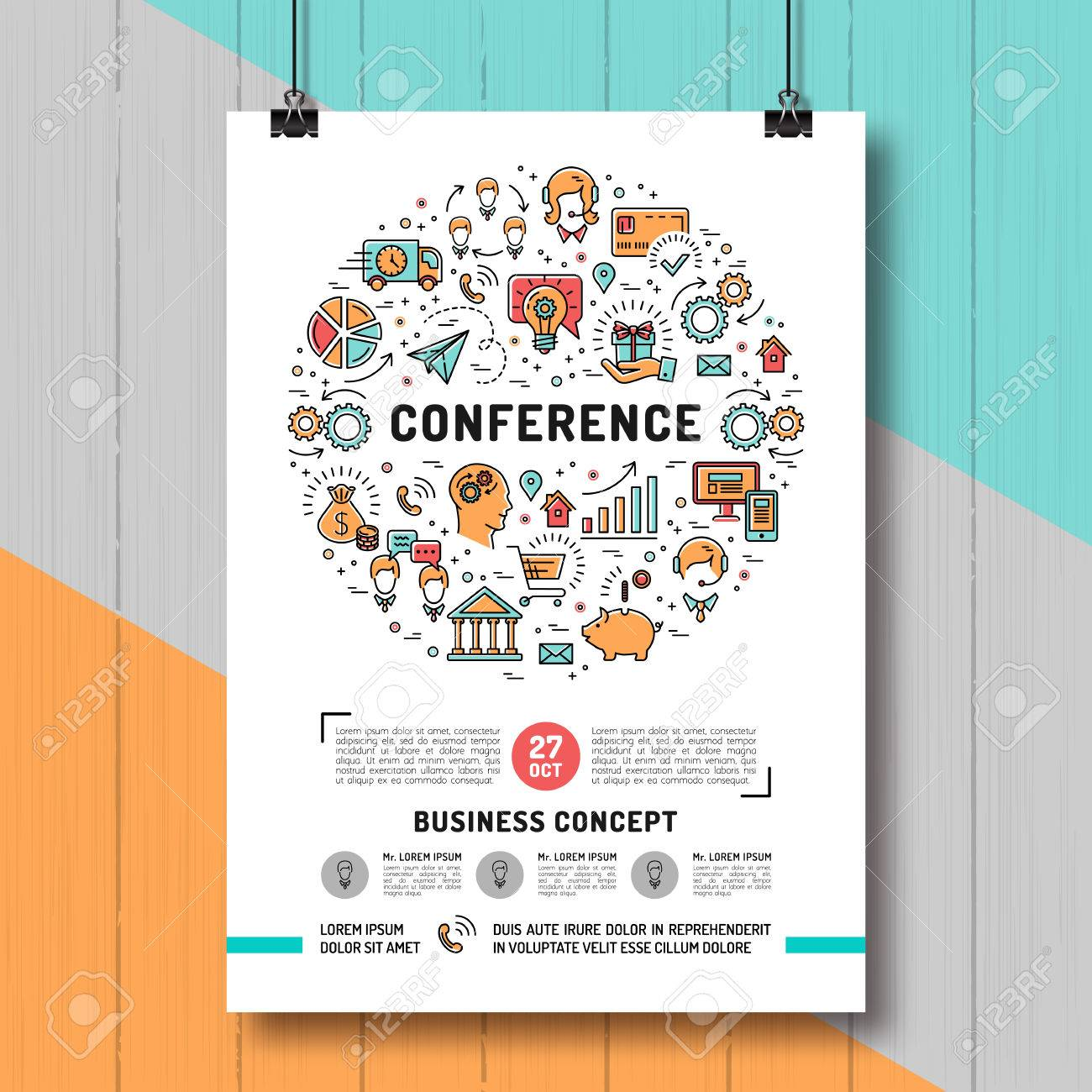 vector business conference poster templates a4 size shopping