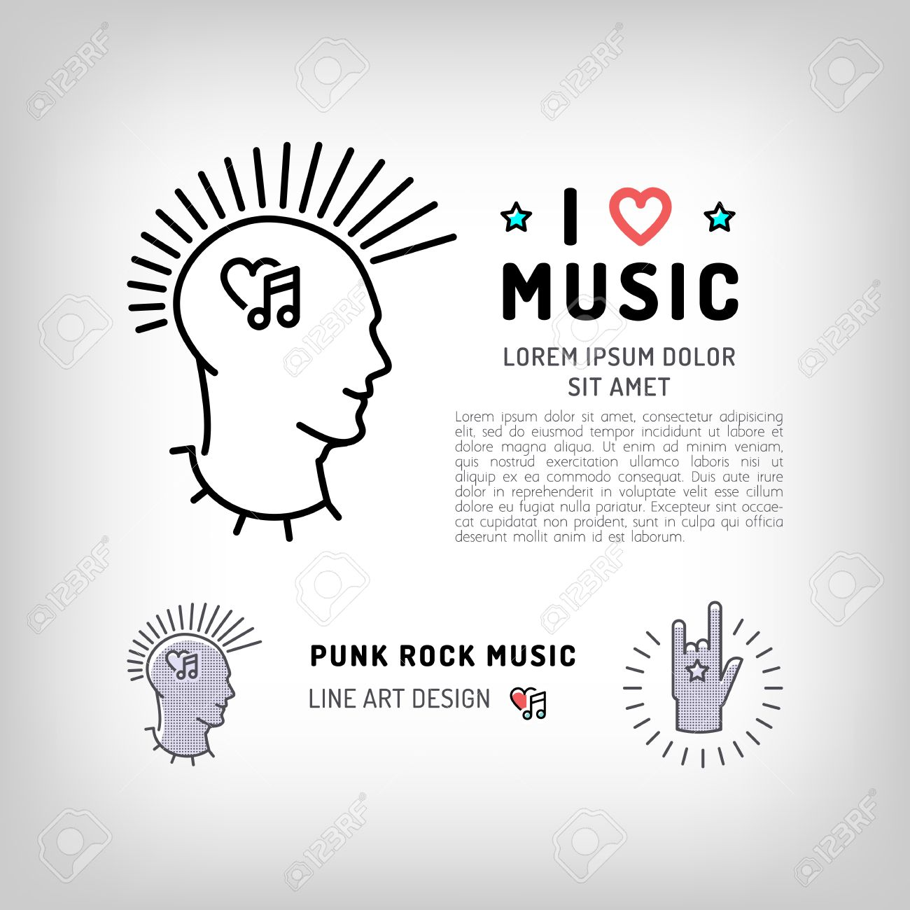 Punk rock music icons rock hand symbol the concept symbols punk rock music icons rock hand symbol the concept symbols of love for music biocorpaavc Image collections