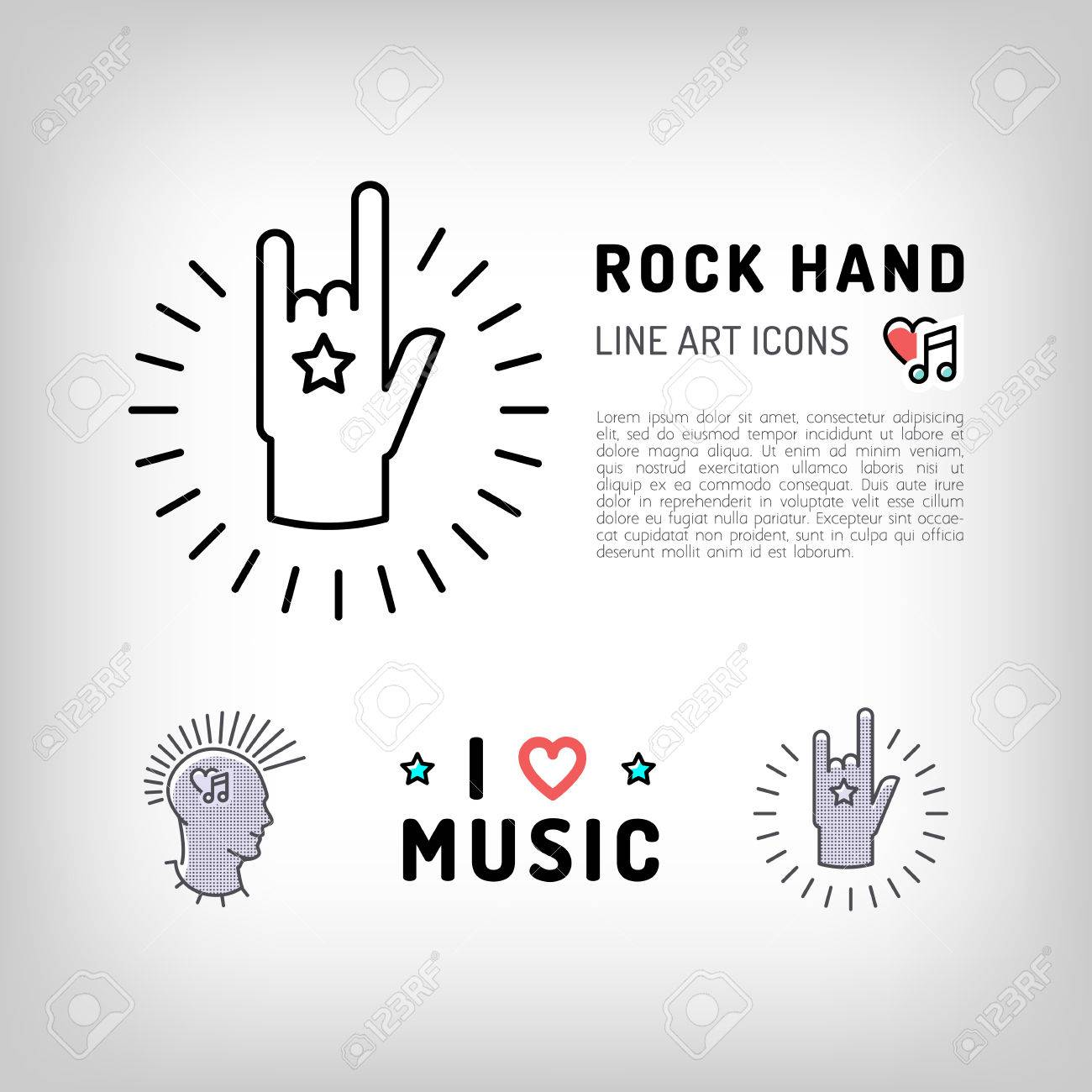 Rock hand sign punk rock music icons the concept symbols of rock hand sign punk rock music icons the concept symbols of love for music biocorpaavc Image collections