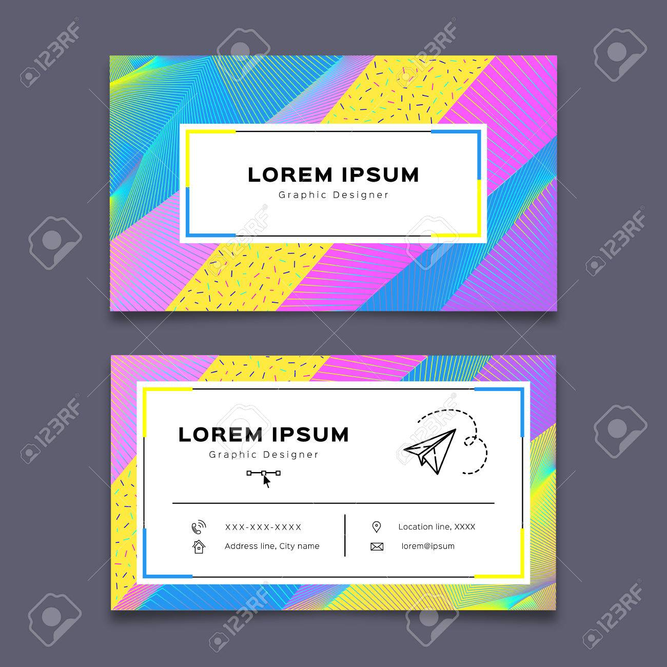 Vector Business Card Design Template. Creative Background Modern ...