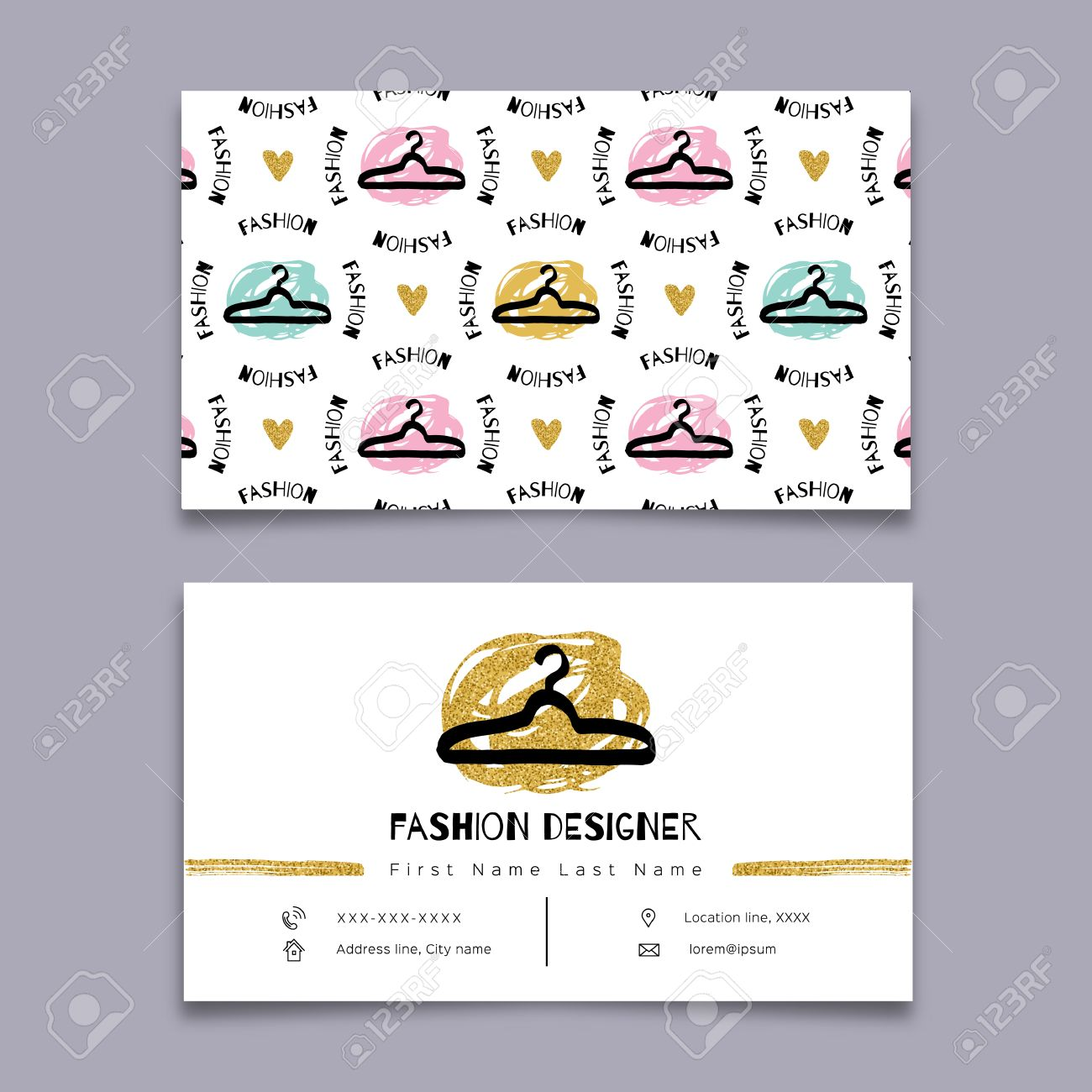 Fashion designer business card stylist modern hipster minimal fashion designer business card stylist modern hipster minimal design vector graphics marker hand magicingreecefo Images