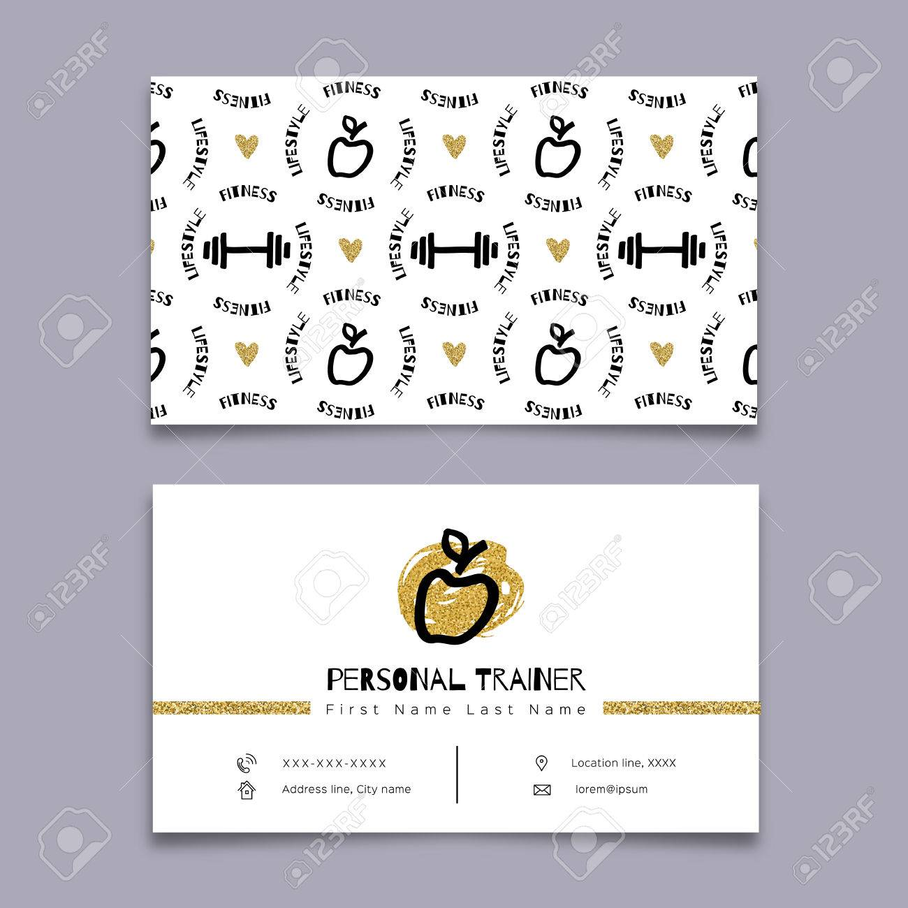 Personal trainer fitness instructor sports business card sketch personal trainer fitness instructor sports business card sketch black marker hand drawn colourmoves