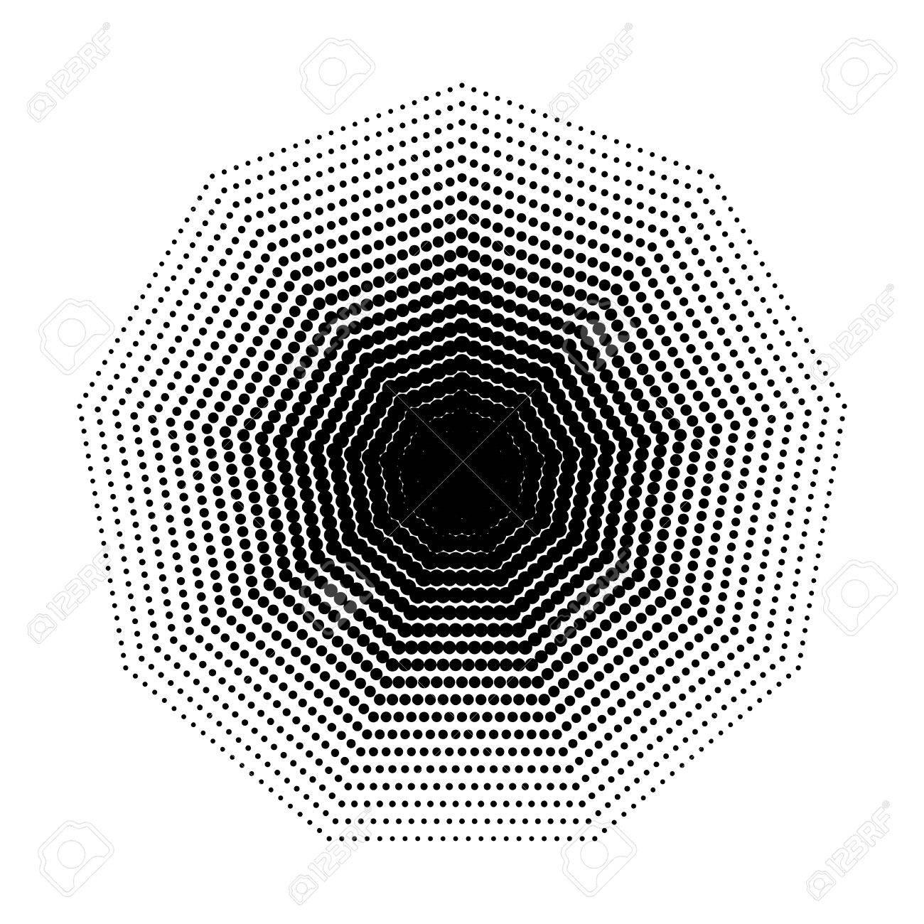 vector nonagon halftone geometric shapes, dot design abstractvector vector nonagon halftone geometric shapes, dot design abstract background the geometric shape with nine angles, basic shapes