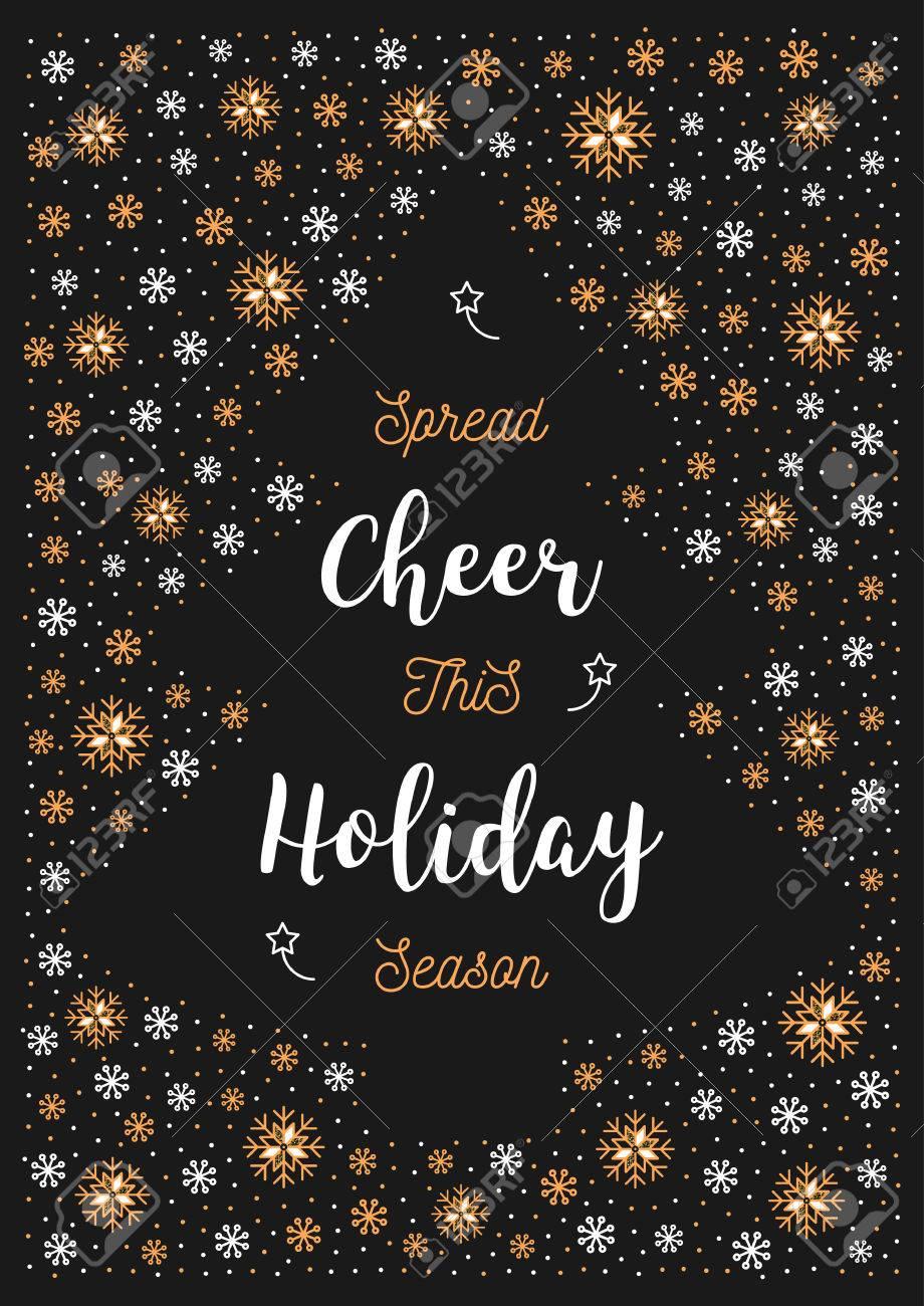 Christmas Holiday Cheer Card Xmas Poster Or Greeting Card