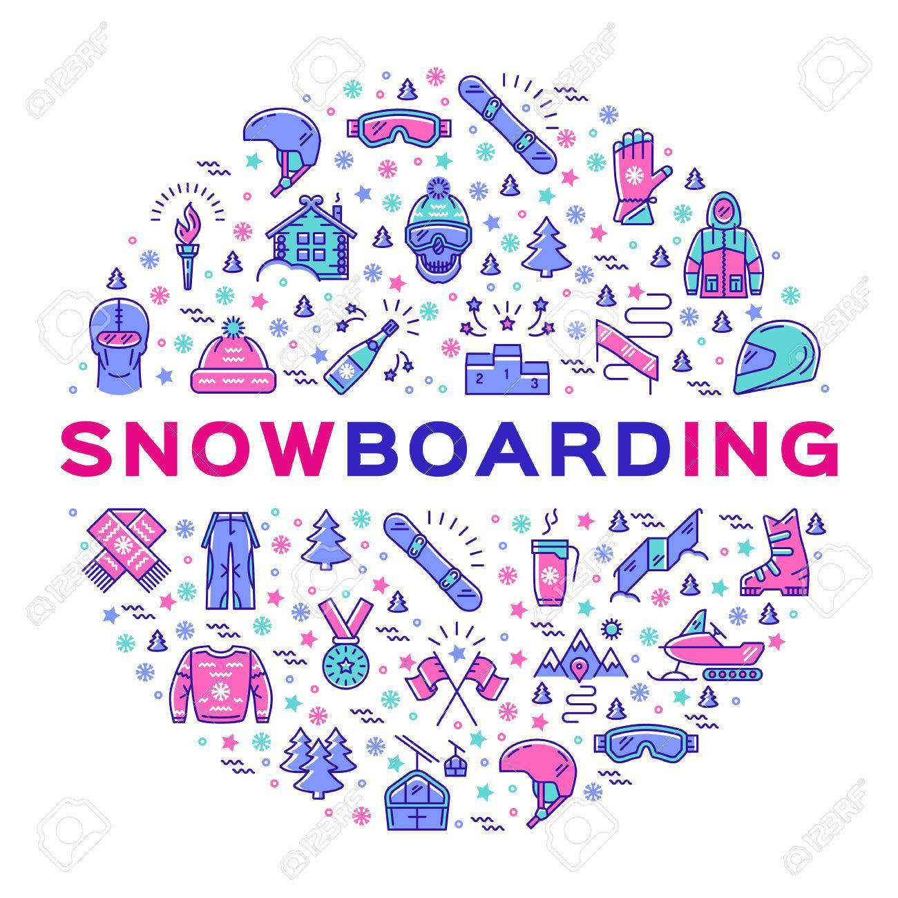 Vector snowboarding icon snowboard infographics isolated symbols vector snowboarding icon snowboard infographics isolated symbols of winter sports clothing sportswear biocorpaavc Choice Image