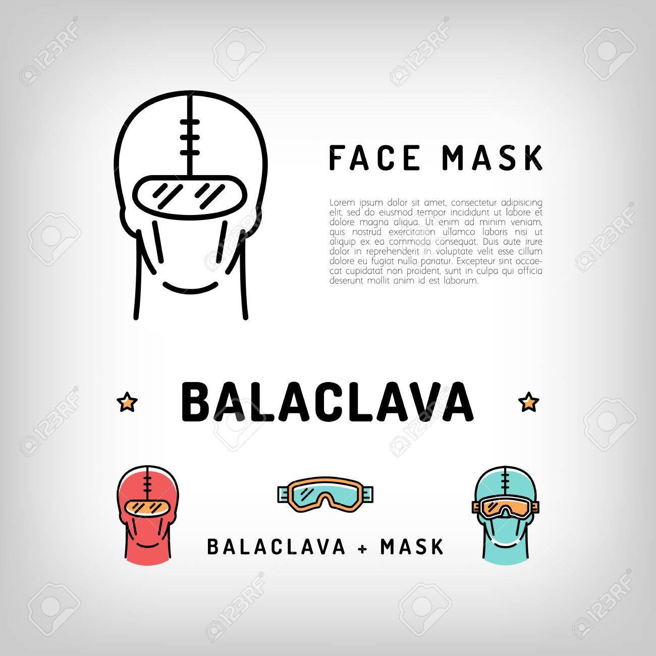 Icono Aislado Pasamontañas De Vectores. Máscara Facial De Deporte De ...