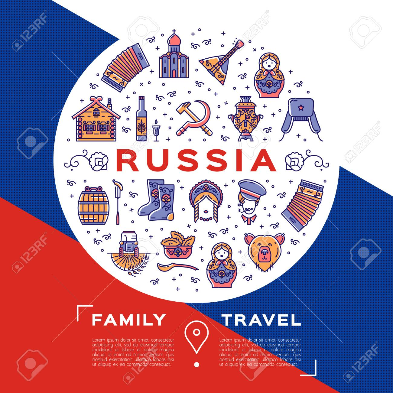 russian travel brochure template royalty free cliparts vectors
