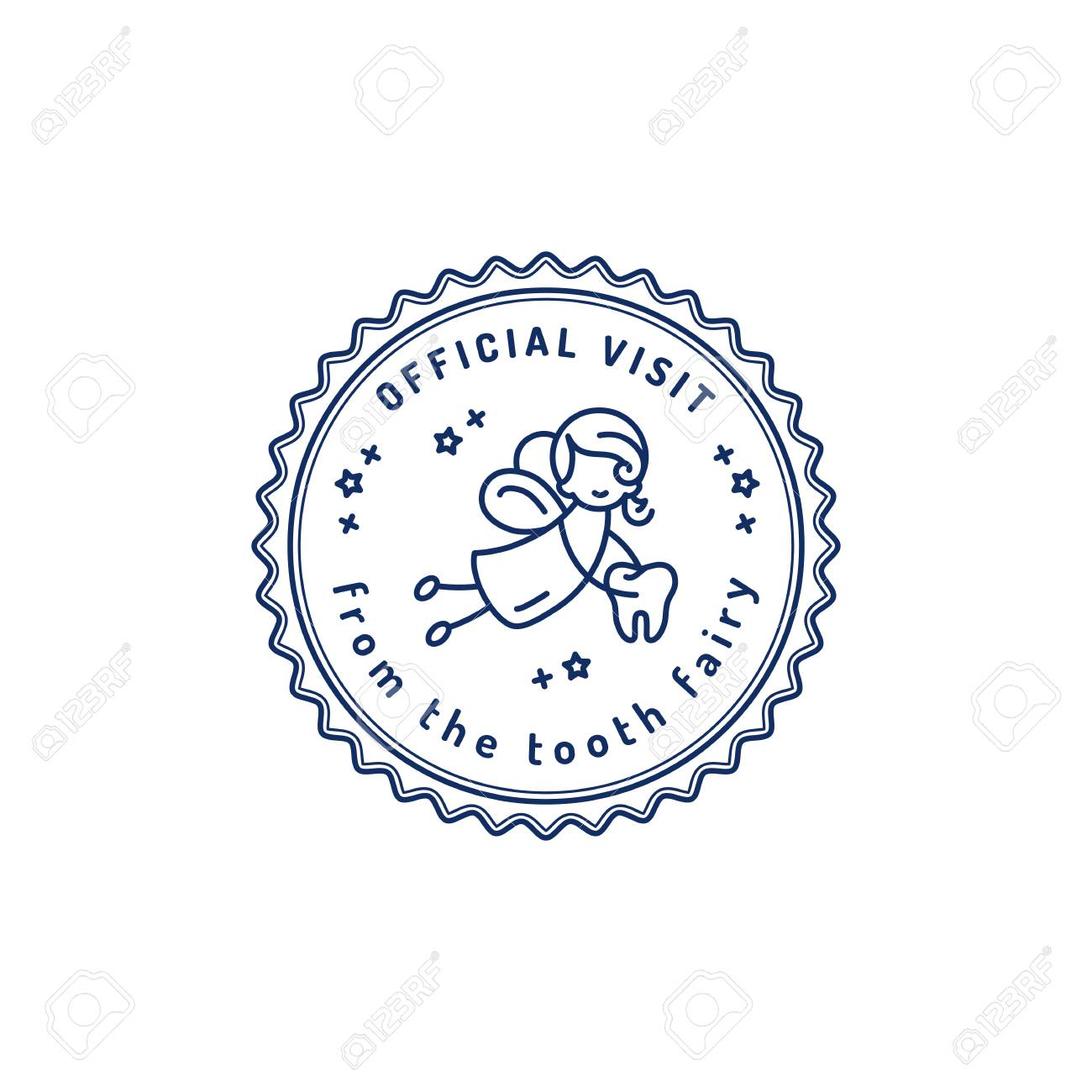 image regarding Free Printable Tooth Fairy Receipt known as Formal Check out Teeth Fairy, Childrens dentistry stamp icon, Teeth..