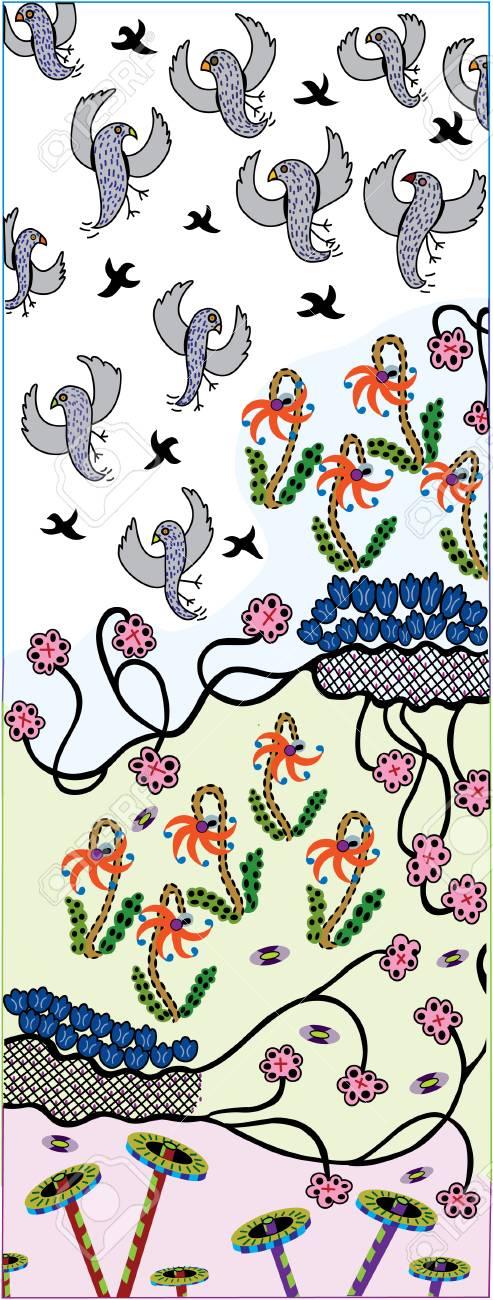 Rising Birds:  vector illustration Stock Vector - 2146108