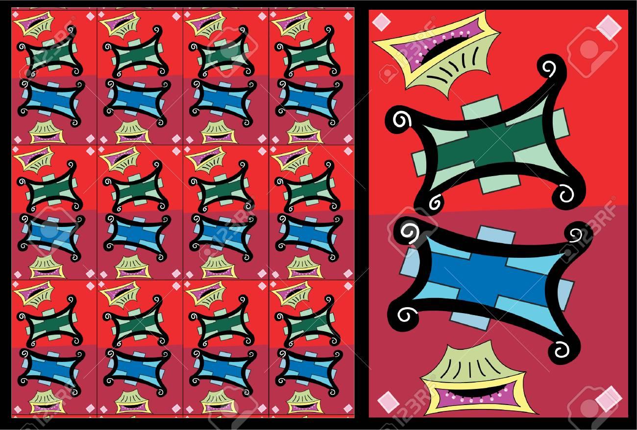 Twin Hassocks:  vector pattern illustration Stock Vector - 2349109
