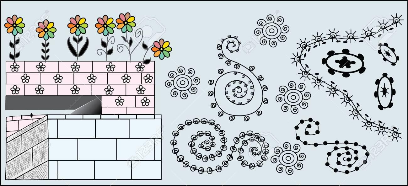 Flower Dive: Vector illustration Stock Vector - 2512983