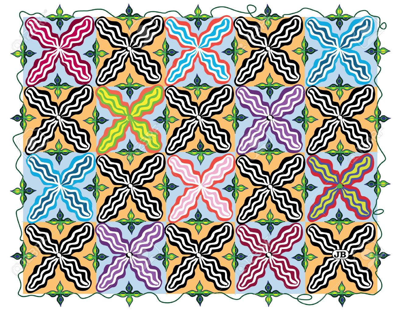 Pattern:  X Chromosome Garden Stock Vector - 4112523