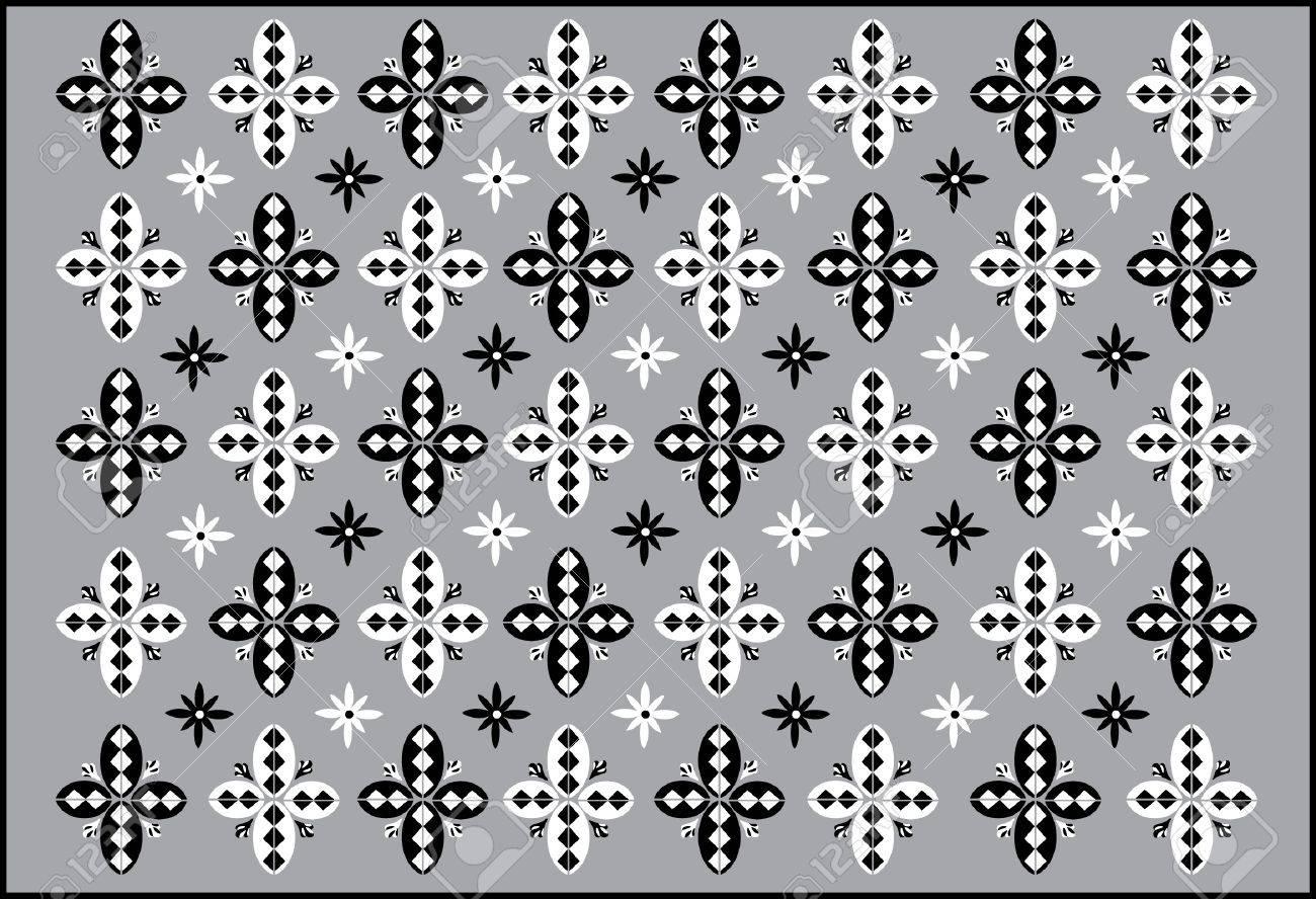 Dance Mat  - Pattern - Vector Drawing Stock Vector - 21585120