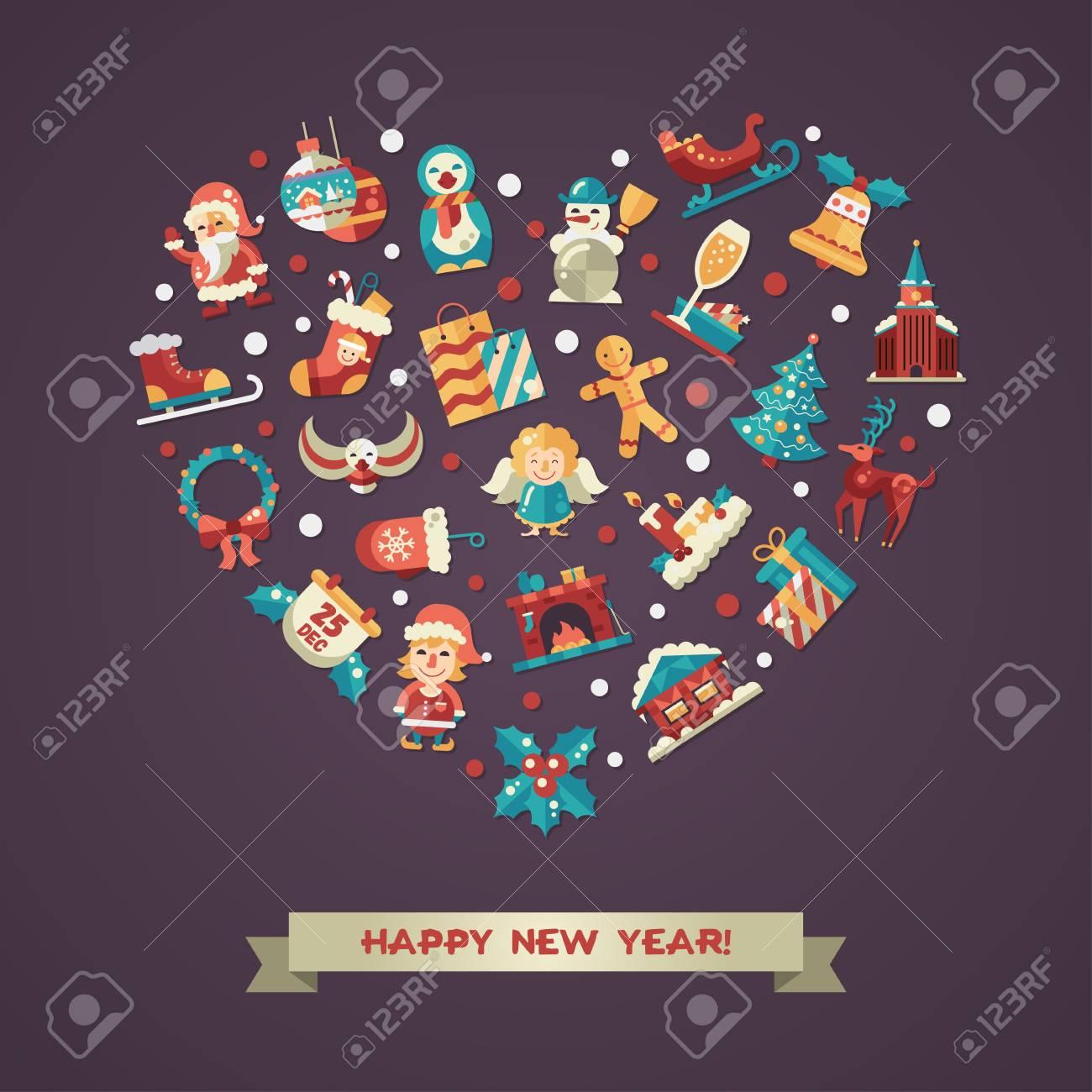 Happy New Year Flat Design 69