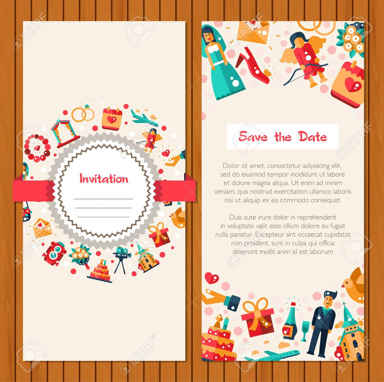 Flat Design Vector Wedding And Marriage Proposal Icons And – Marriage Proposal Template
