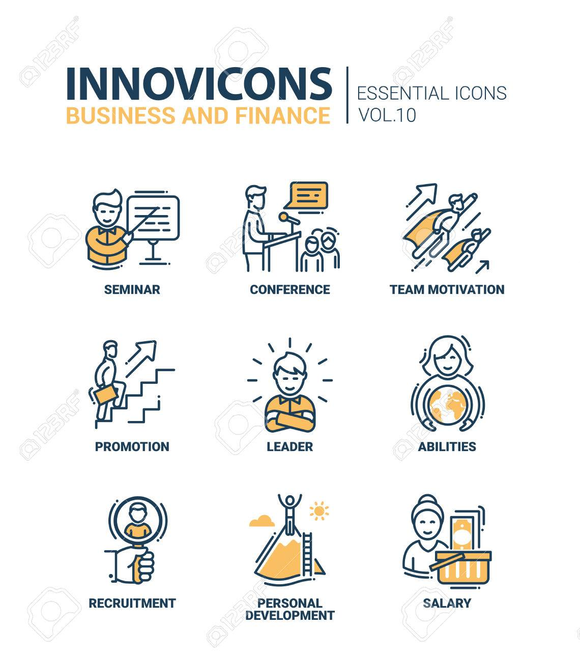line leader images stock pictures royalty line leader line leader modern vector business and finance icons collection seminar conference team motivation promotion