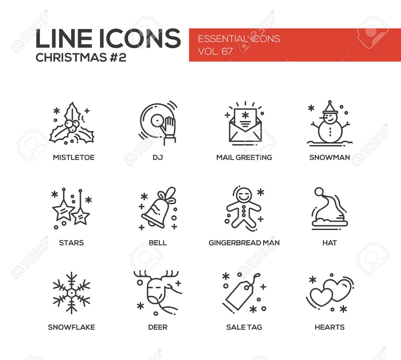 Christmas and new year set of modern vector simple line design christmas and new year set of modern vector simple line design icons and pictograms m4hsunfo