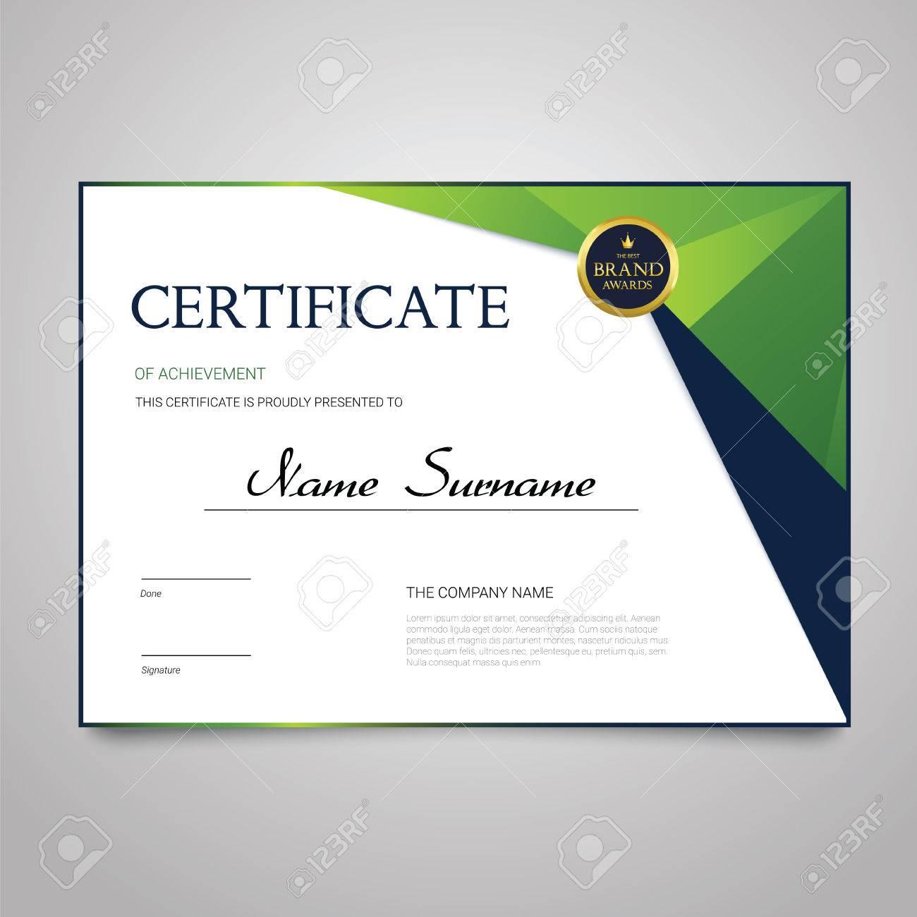 Certificate - horizontal elegant vector document - 81448248
