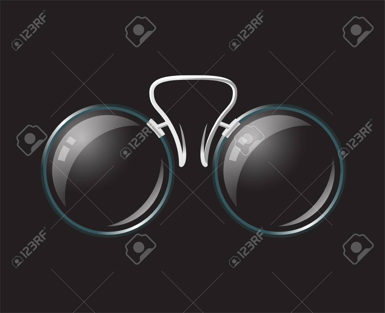 aa1c6d7871 Vector - Vintage eyeglasses pince-nez - modern vector realistic isolated  object illustration