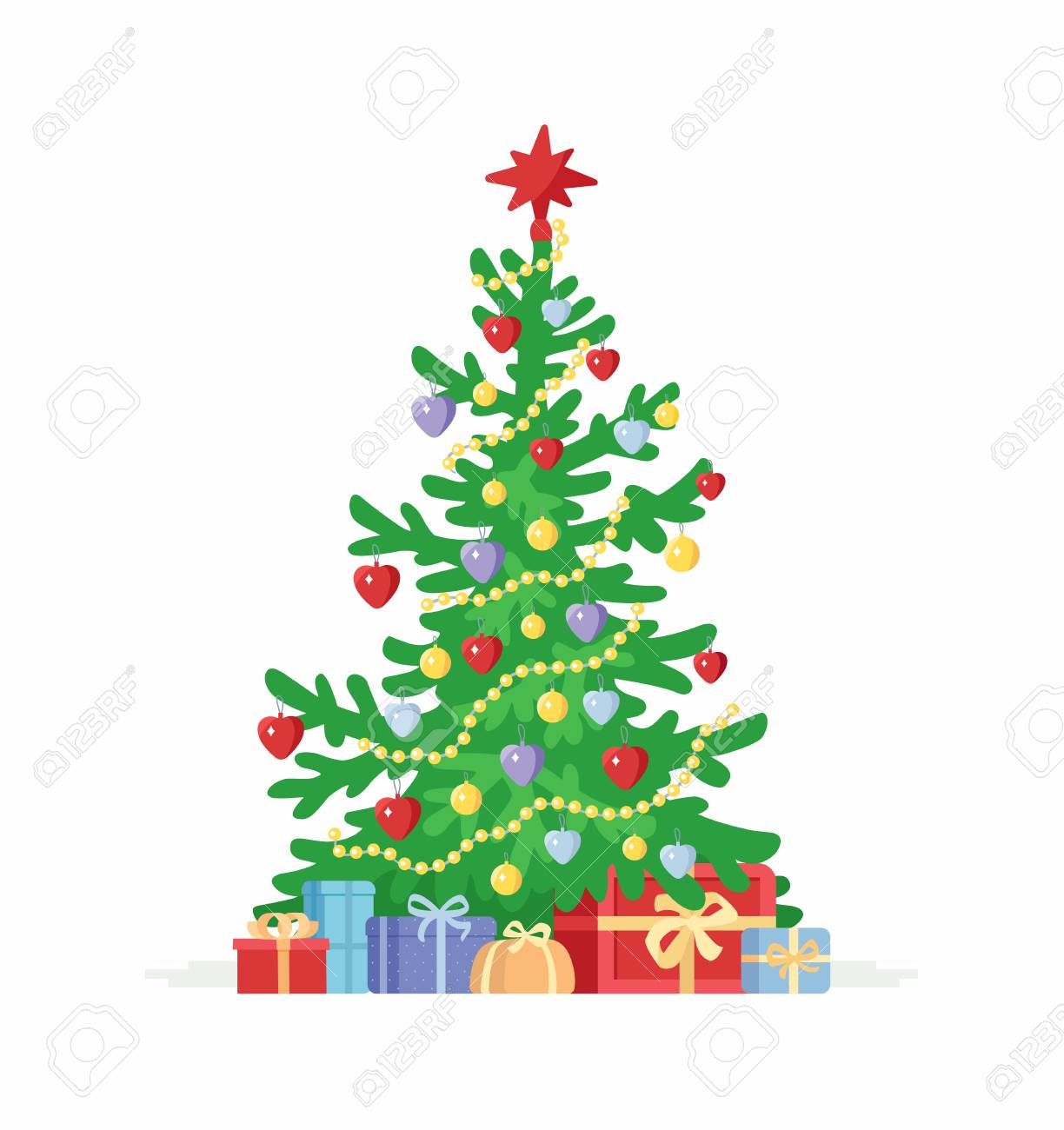 Christmas Tree Cartoon Characters Isolated Illustration On Royalty Free Cliparts Vectors And Stock Illustration Image 88883561 Colorful christmas new year winter tree with decorations and presents template. christmas tree cartoon characters isolated illustration on