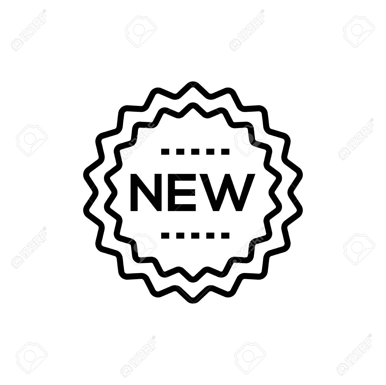 New sign - line design single isolated icon - 101035401