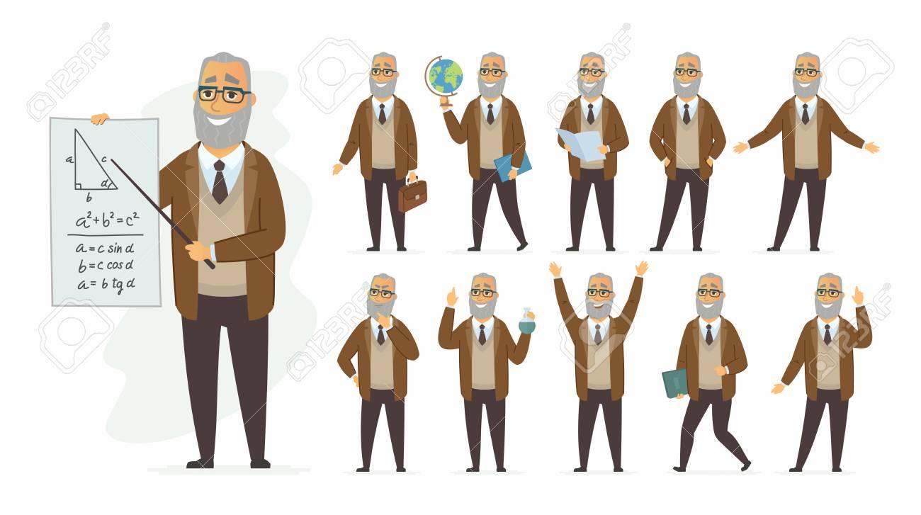 Teacher - vector cartoon people character set - 102239662