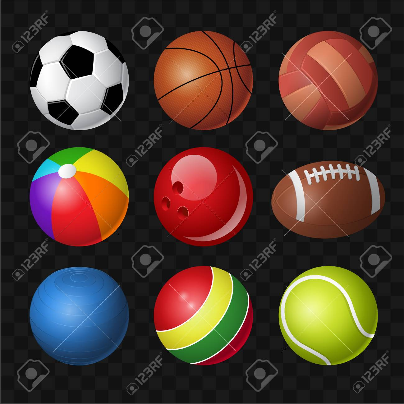 Balls Modern Vector Realistic Isolated Clip Art On Transparent Royalty Free Cliparts Vectors And Stock Illustration Image 128175602