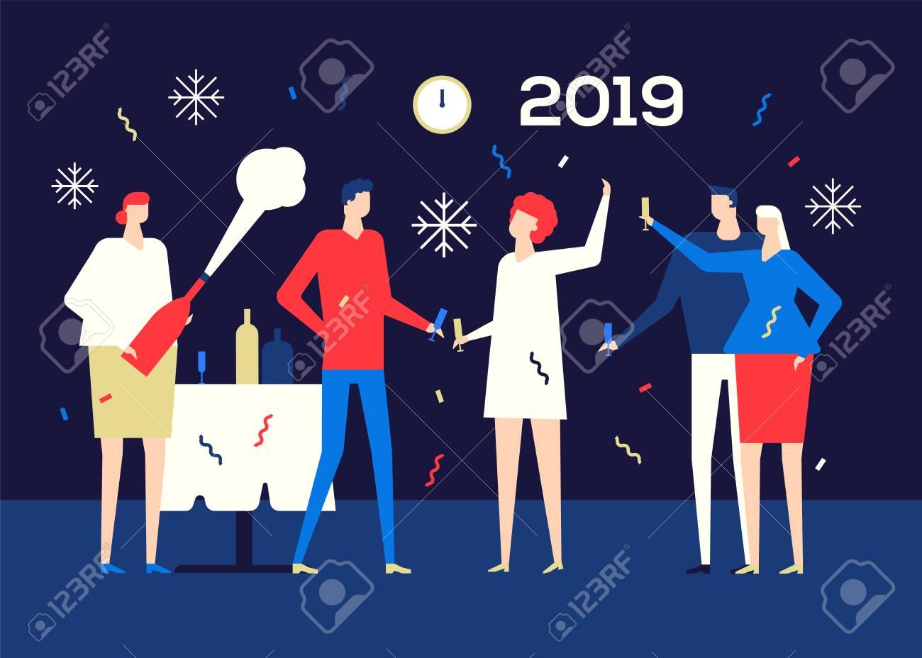 Happy New Year Flat Design 36