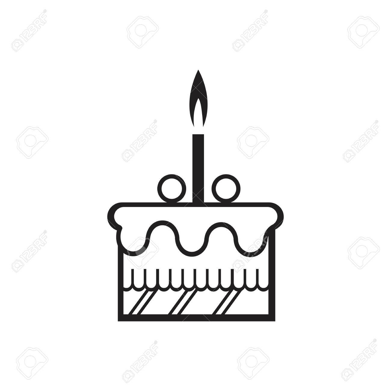 Marvelous Birthday Cake Icon Vector Design Template Royalty Free Cliparts Funny Birthday Cards Online Kookostrdamsfinfo