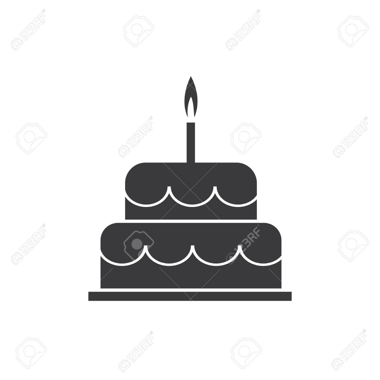 Fabulous Birthday Cake Icon Vector Design Template Royalty Free Cliparts Funny Birthday Cards Online Kookostrdamsfinfo